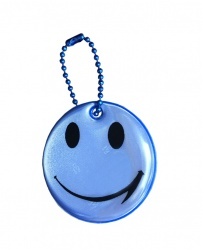 3M Reflective Pendant (blue smiley)