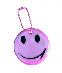 3M Reflective Pendant (pink smiley)