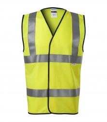 Reflective vest for adults – 3 reflective stripes YELLOW EN ISO 20471: 2013