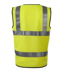 Safety Vest with 3 Reflective Stripes (yellow)