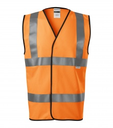 Reflective vest for adults – 3 reflective stripes ORANGE EN ISO 20471: 2013