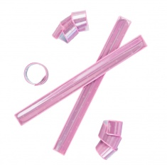 3M Reflective snap band – pink – complies with EN 13356