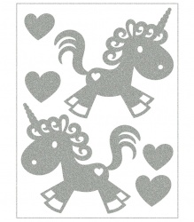 Reflective Iron-On Motifs (unicorns)