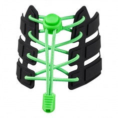 Reflective Elastic Shoe Laces (fluorescent green)