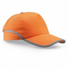 Baseball cap with reflective tape - ORANGE