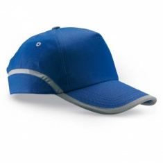 Baseball cap with reflective tape - BLUE