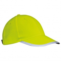 Child's cap with reflective stripe  – YELLOW