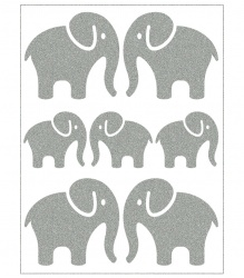 Reflective Iron-On Motifs (elephants)
