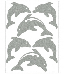 Reflective Iron-On Motifs (dolphins)