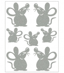 Reflective Iron-On Motifs (mice)