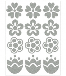 Reflective Iron-On Motifs (blossoms)
