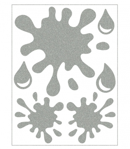 Reflective Iron-On Motifs (spots)