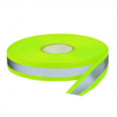 Combined Reflective Sew-On Tape (w 30 mm 5 m package yellow)