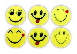 Reflective Sticker (smileys I - set of 6)