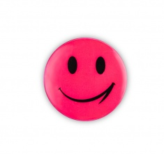 Reflective Sticker (pink smiley pack of 5)