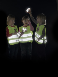 Child Reflective Safety Vest (white teddy)