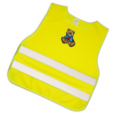 Child Reflective Safety Vest (brown teddy)