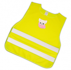 Child Reflective Safety Vest (pink kitty)
