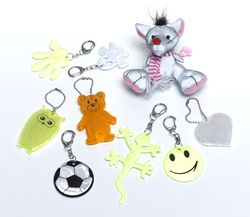 Pendant Reflector (white teddy bear)