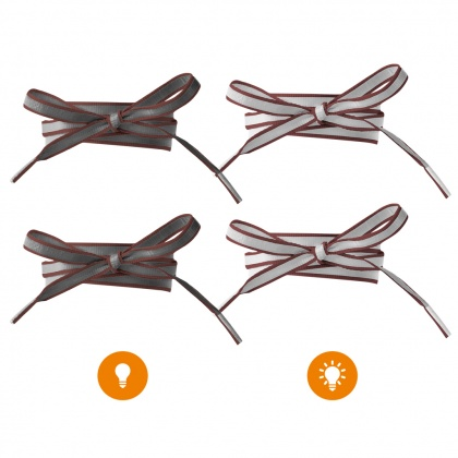Reflective Shoe Laces (dark brown)
