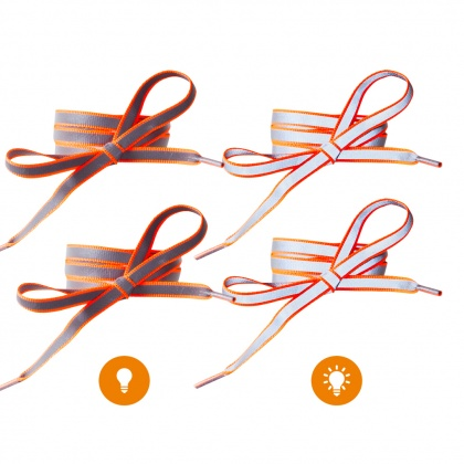 Reflective Shoe Laces (orange)