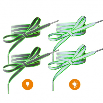 Reflective Shoe Laces (green)
