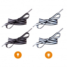 Reflective Shoe Laces (black)
