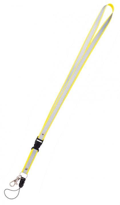 Reflective Neck Strap Keychain (yellow)