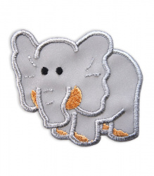 Reflective Iron-On Patch (elephant)