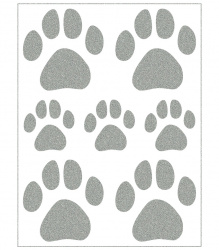 Reflective Iron-On Motifs (paws)