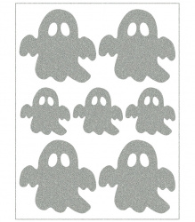 Reflective Iron-On Motifs (ghosts)
