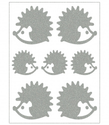 Reflective Iron-On Motifs (hedgehogs)