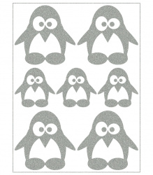 Reflective Iron-On Motifs (penguins)
