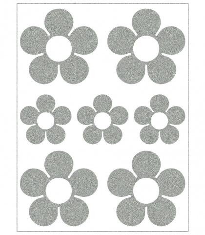 Reflective Iron-On Motifs (flowers)