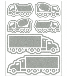 Reflective Iron-On Motifs (trucks)