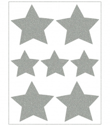 Reflective Iron-On Motifs (stars)