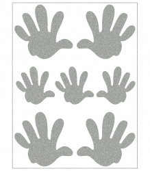 Reflective Iron-On Motifs (palms)