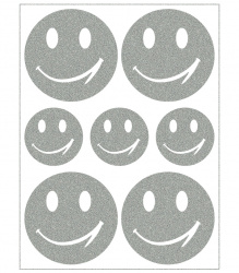 Reflective Iron-On Motifs (smileys)