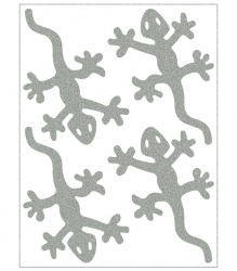 Reflective Iron-On Motifs (lizards)