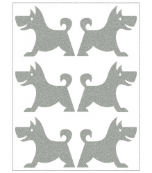 Reflective Iron-On Motifs (dogs)