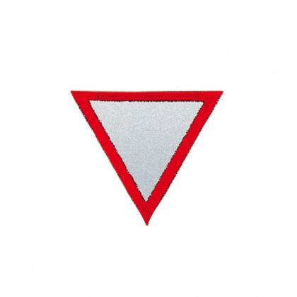 Reflective Iron-On Patch (give right of way)