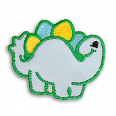 Reflective Iron-On Patch (stegosaurus)