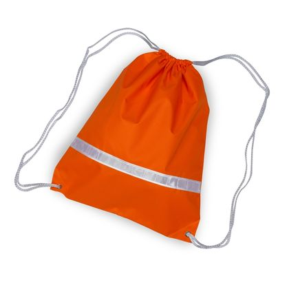 Reflective Drawstring Bag (orange)