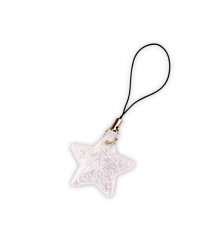 Reflective Zipper Puller (white star)