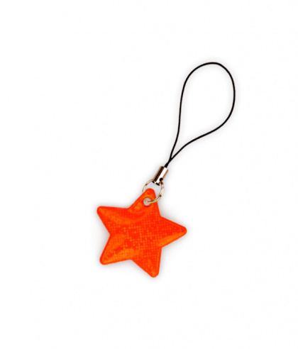 Reflective Zipper Puller (orange star)