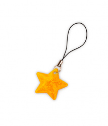 Reflective Zipper Puller (golden star)