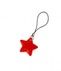 Reflective Zipper Puller (red star)