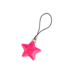 Reflective Zipper Puller (pink star)