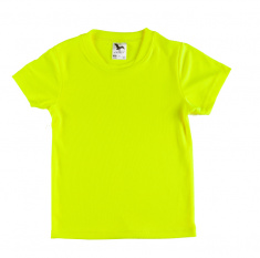 Sports T-shirt for Children (fluorescent yellow)