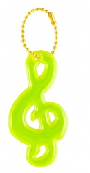 3M Reflective Pendant (yellow treble clef)